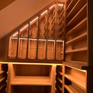 Oiled Oak Under Stairs wine cellar