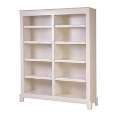 Shaker Alder Bookcase Whitewash Alder 84-inch