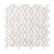 """11.88""""x11.88"""" Delta Mother of Pearl Mosaic Tile Sheet"""