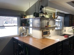 Do you have open shelves in your kitchen? What's the best depth??