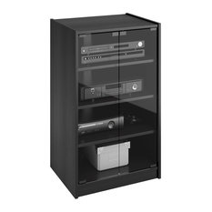 MOD - Kingsley Ravenwood Black Component Stand - Entertainment Centers and Tv Stands