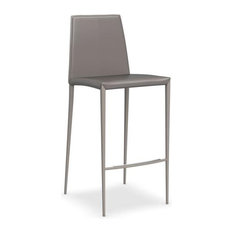 Aida Leather Counter Stool Calligaris, Taupe
