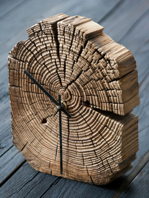 Reclaimed wood clocks - Desk And Mantel Clocks - Reclaimed Wood Clocks