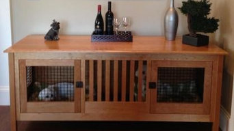 Natural Cherry with Wire Double Small Dog Crate Furniture
