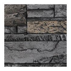 BuyFauxStone Stacked Stone Wall Panel SAMPLE-Midnight