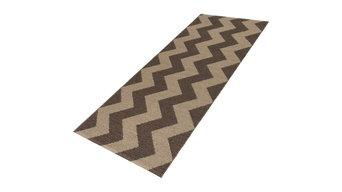 Mora Modern Vinyl Floor Cloth, Brown, 60x120 Cm