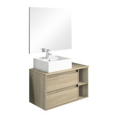 Soul 2-Piece Bathroom Vanity Unit, Cambrian Finish, 100 cm