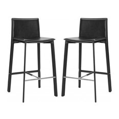 Safavieh Janet Barstools, Set of 2, Black