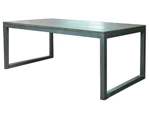 Mesas de hierro y madera estilo industrial para exterior e - Mejor pintura para hierro exterior ...