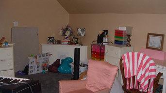 Third Floor Storage Turned Guest Bedroom