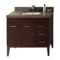 """Ronbow 36"""" Venus Solid Wood Vanity Set With Ceramic Sink"""