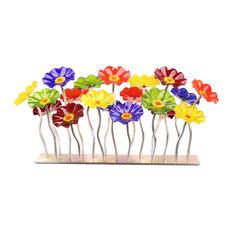 Rainbow Garden Table Centerpiece