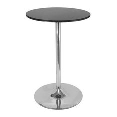 Round Bar Table With Chrome Leg And Base 60cm Table Top