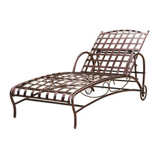 Iron Bronze Multi-Position Patio Chaise Lounger