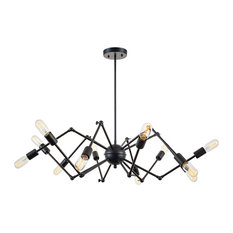 50 most popular black chandeliers for 2018 houzz light society arachnid 12 light chandelier black chandeliers aloadofball Image collections