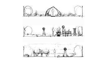 New patio and border-concept sketches