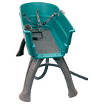 Pet Stores USA - Booster Bath Elevated Pet Bathing Tub Large, Teal - Finally, no more dogs in the shower or bath tub. No more chasing dogs with a hose through the back yard. Now bath time is fun and easy! For single or multiple dogs. With Booster Bath bathing your dog will take one fourth the time and you will feel one tenth of the hassle. Place your order now for the Booster Bath and see for yourself just how great this product really is! We know you and your pet will love and enjoy the Booster Bath for years as it is built to last a lifetime.