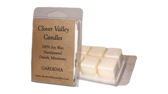 Gardenia 3.7 oz. Scented Soy Melting Tart by Clover Valley Candles