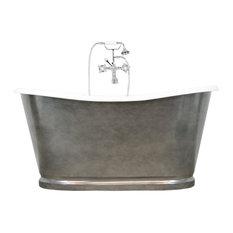 "Penhaglion - The Whitby 59"" Cast Iron French Bateau Tub With Drain - Bathtubs"