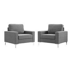 Allure 2-Piece Armchair Set Gray
