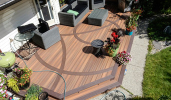 New Fiberon IPE Deck with Bent Azek Accent Decking