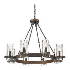 Millennium Lighting, 808-RBZ, Tulsa Eight Light Chandelier Rubbed Bronze