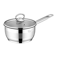 Safinox 18/10 Stainless Steel Tri-Ply Capsulated Bottom Sauce Pan, 1.5-Quart