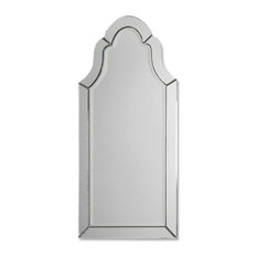 Modern and Classic Inspired Uttermost Hovan Frameless Arched Mirror Home Decor