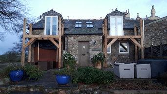 Oak balconies