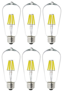 dimmable 6w st64 vintage edison led bulb warm light 6 pack more info