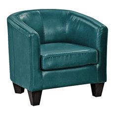 faux leather chair. MOD - Peacock Blues Faux Leather Armchair Armchairs And Accent Chairs Chair