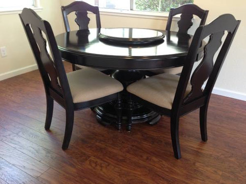 Looking For Z Gallerie Dining Table And Chairs Which May Be Discontinued See Pictures The Have A Back Shaped Like An Hourgl Has