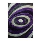 shaggy indoor area rug graypurple