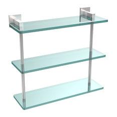"Montero Collection 16"" Triple Tiered Glass Shelf"