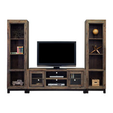 """Laredo 80"""" Entertainment Console With 2 Bookcases"""