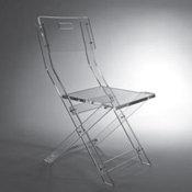 Glam Lucite Folding Chair