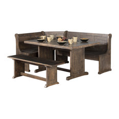 Sunny Designs Inc Design Homestead Breakfast Nook With Side Bench Dining