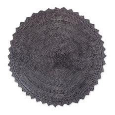 DII Gray Round Crochet Bath Mat
