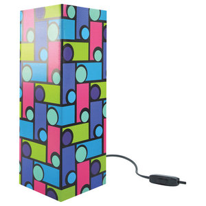 Multicolour Optical Paper Table Lamp