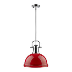 Pendant Lights with a Red Shade Houzz