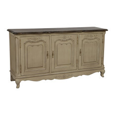 Chateau Low 3-Door Sideboard, Aged Grey
