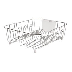 Rubbermaid® 6032-Ar-Chrom Microban® Coated Wire Dish Drainer, Large, Chrome