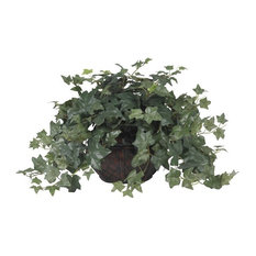 Puff Ivy with Vase Silk Plant in Green
