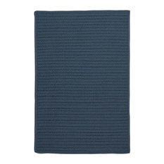 10' Square (Large 10x10) Rug, Lake Blue Indoor/Outdoor Carpet