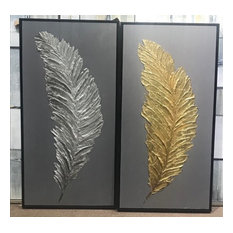 Silver and Gold Feathers, S/2