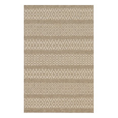 Mesa Hand-Woven Reversible Flatweave Rug, Beige, 5'x8'