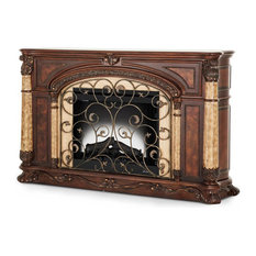 Victoria Palace Wood Top Fireplace With Electric Fireplace Inset