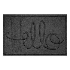 2'x3' Hello Doormat, Charcoal