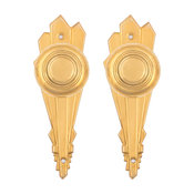 1929 Doorknobs And Passage Back Plates Set, Unlacquered Brass