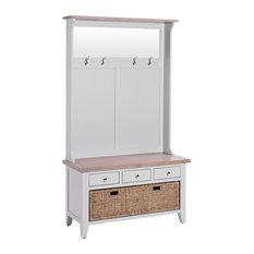3-Drawer Hallway Bench, Light Grey